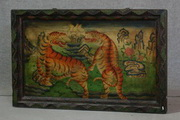tibet tiger painting furniture deco