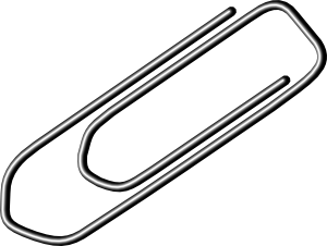 paper clip icon of design
